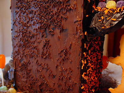 back halloween candy house