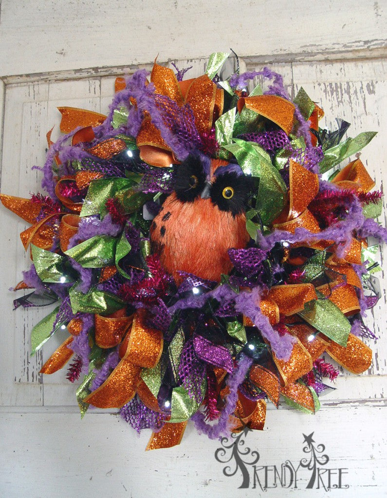 Halloween Ribbon Wreath Tutorial Trendy Tree