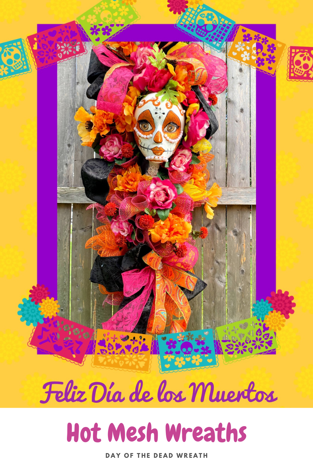 day of the dead halloween wreath