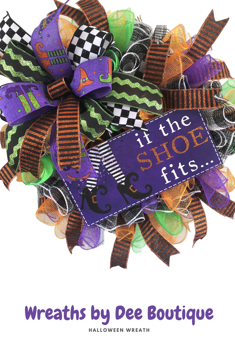 halloween wreath if the shoe fits