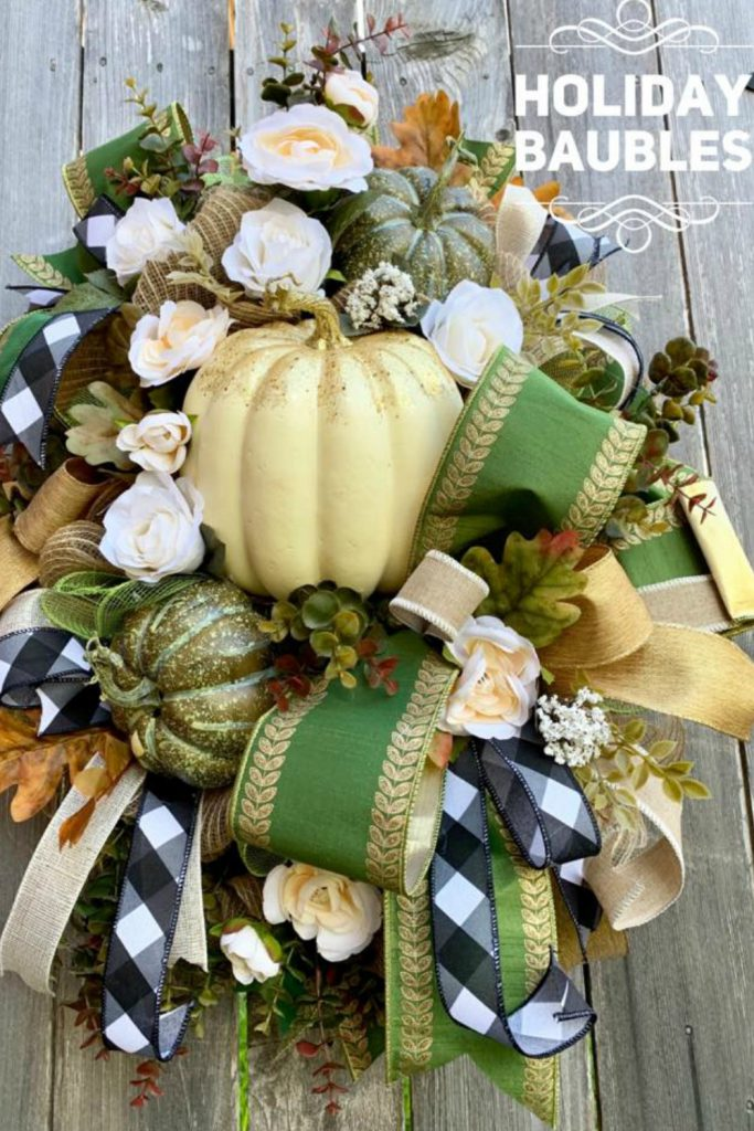fall wrwath, autumn wreath, pumpkin wreath