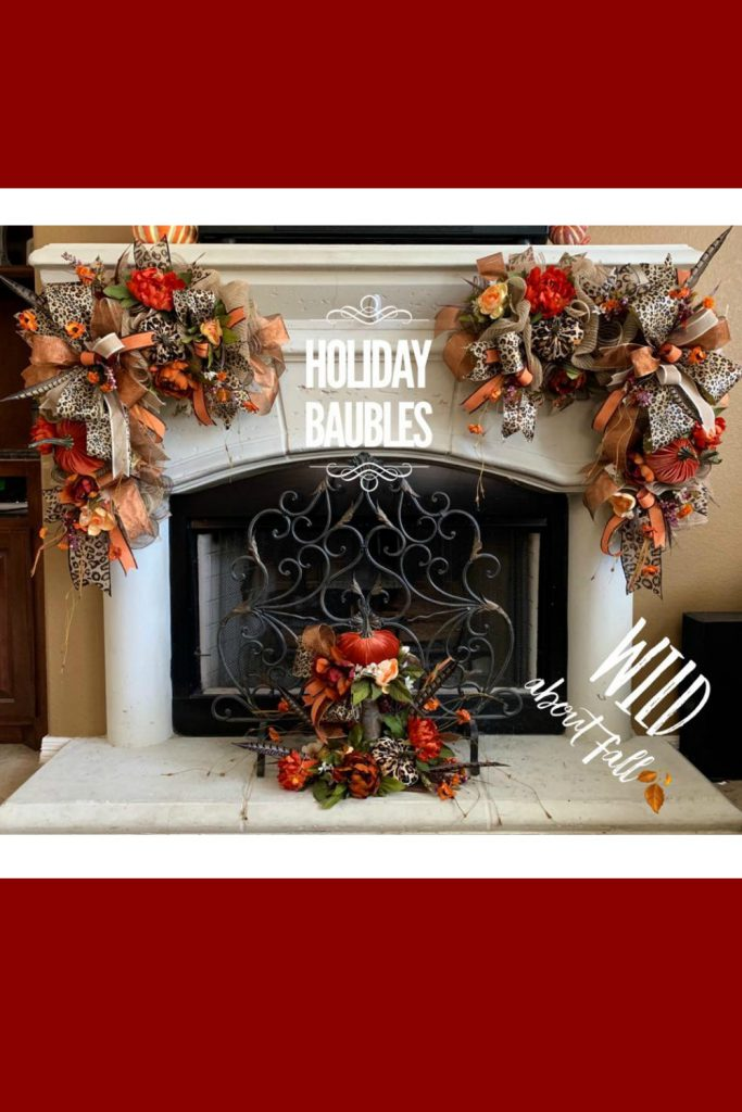 custom fireplace decoration, custom wreaths