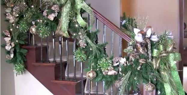 decorate your banister and staircase for christmas