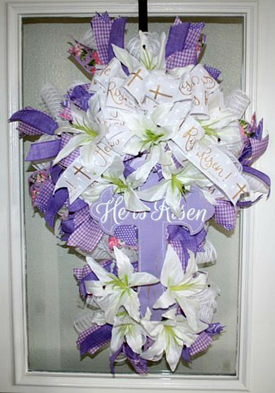 He is Risen Easter wreath