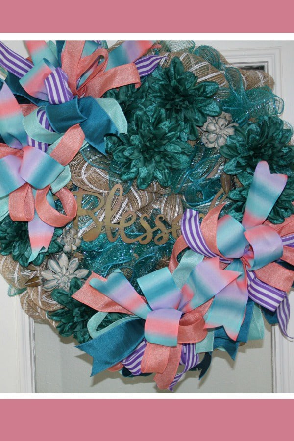 blessed wreath, spring wreath