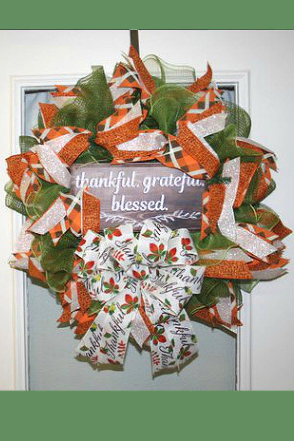 be still, be still and know that I am God,, spring wreath, religious wreath, faith wreath, mesh wreath