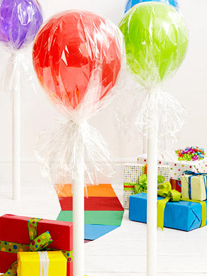 lollipops out of balloons