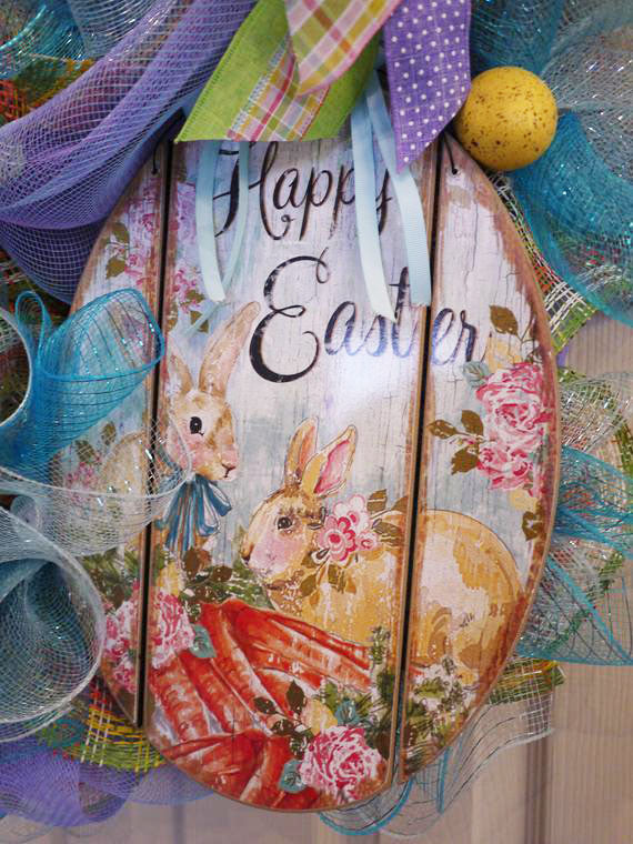 Easter, Bunny, Easter Front Door Wreath, Easter Mesh Wreath, Spring Deco Mesh Wreath, Easter Bunny Wreath, Happy Easter Wreath, Spring, Egg