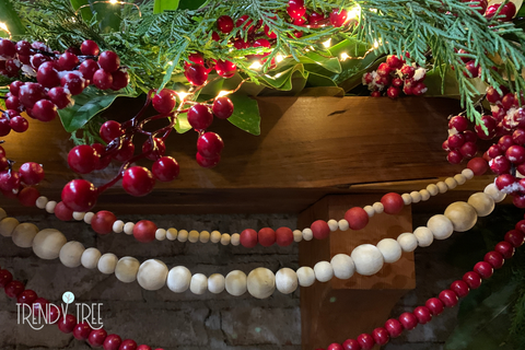 beaded garland for Christmas decorating