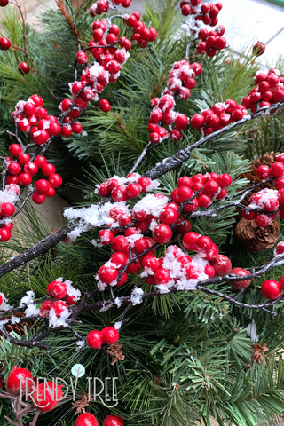snow berry branches for Christmas decorating
