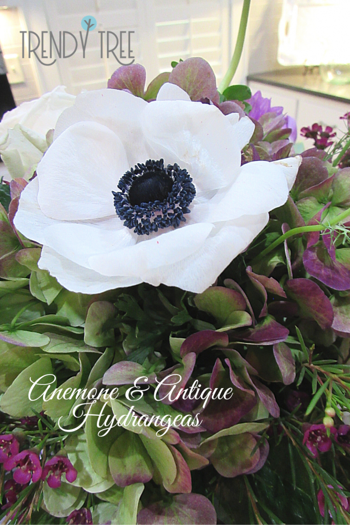 anemone flower, antique hydrangea