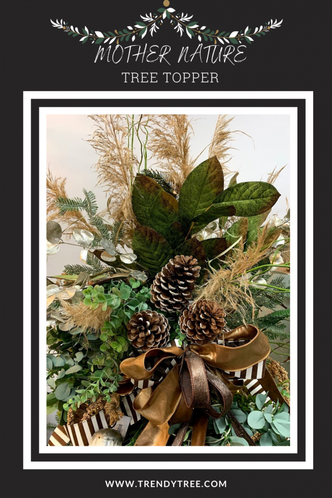 magnolia, pinecone, pampas grass, faux leather