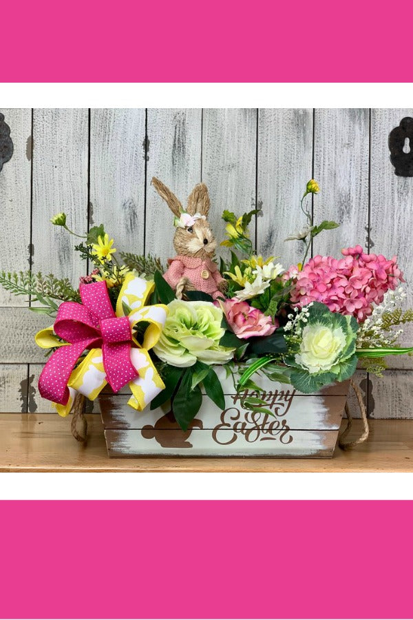 This is an adorable bunny centerpiece caddy that will look great on any table you choose!