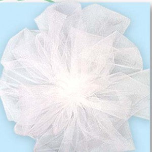 nylon tulle white