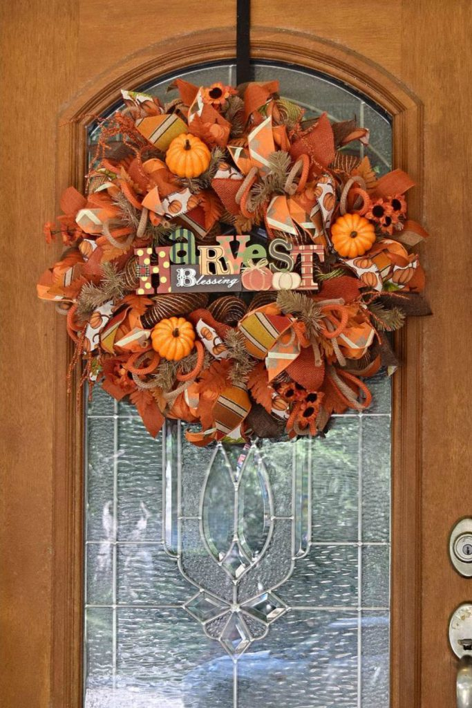 Fall Wreaths, Deco Mesh Wreath, Burlap Wreaths, Autumn Wreath, Harvest Wreath. Fall Wreath By Over The Top Wreaths. Handcrafted in the USA.
