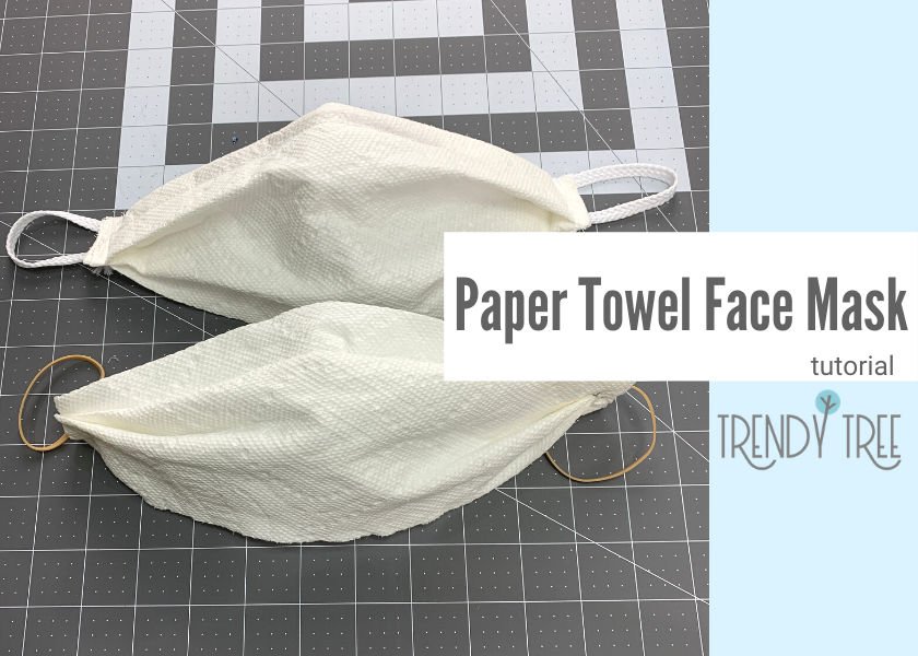 paper towel face mask, facemask