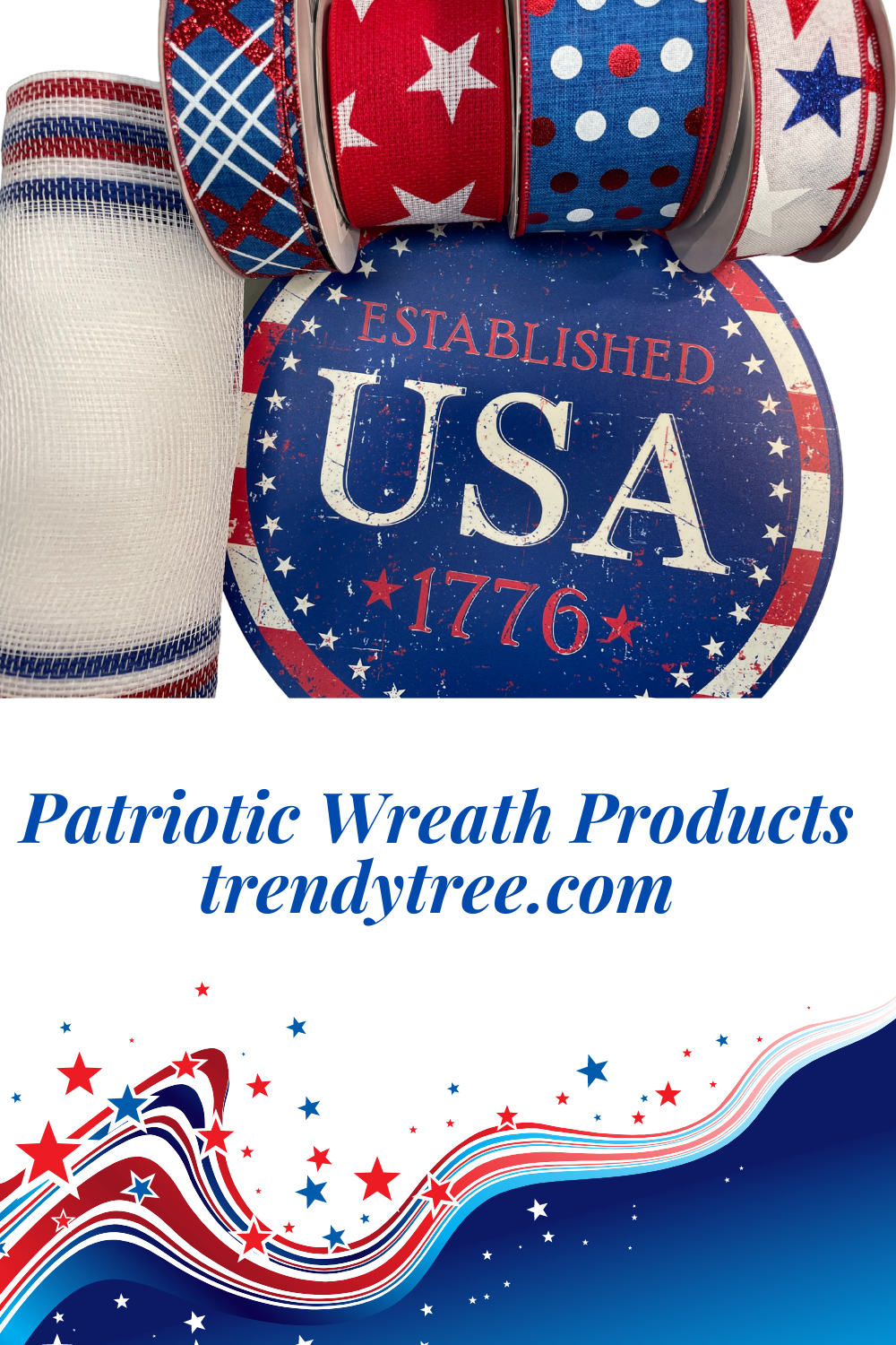 Patriotic Wreath Products from Trendy Tree