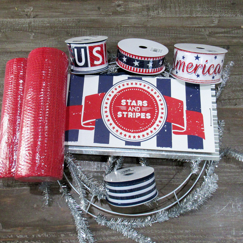 patriotic kit, patrioic wreath, stars and stripes