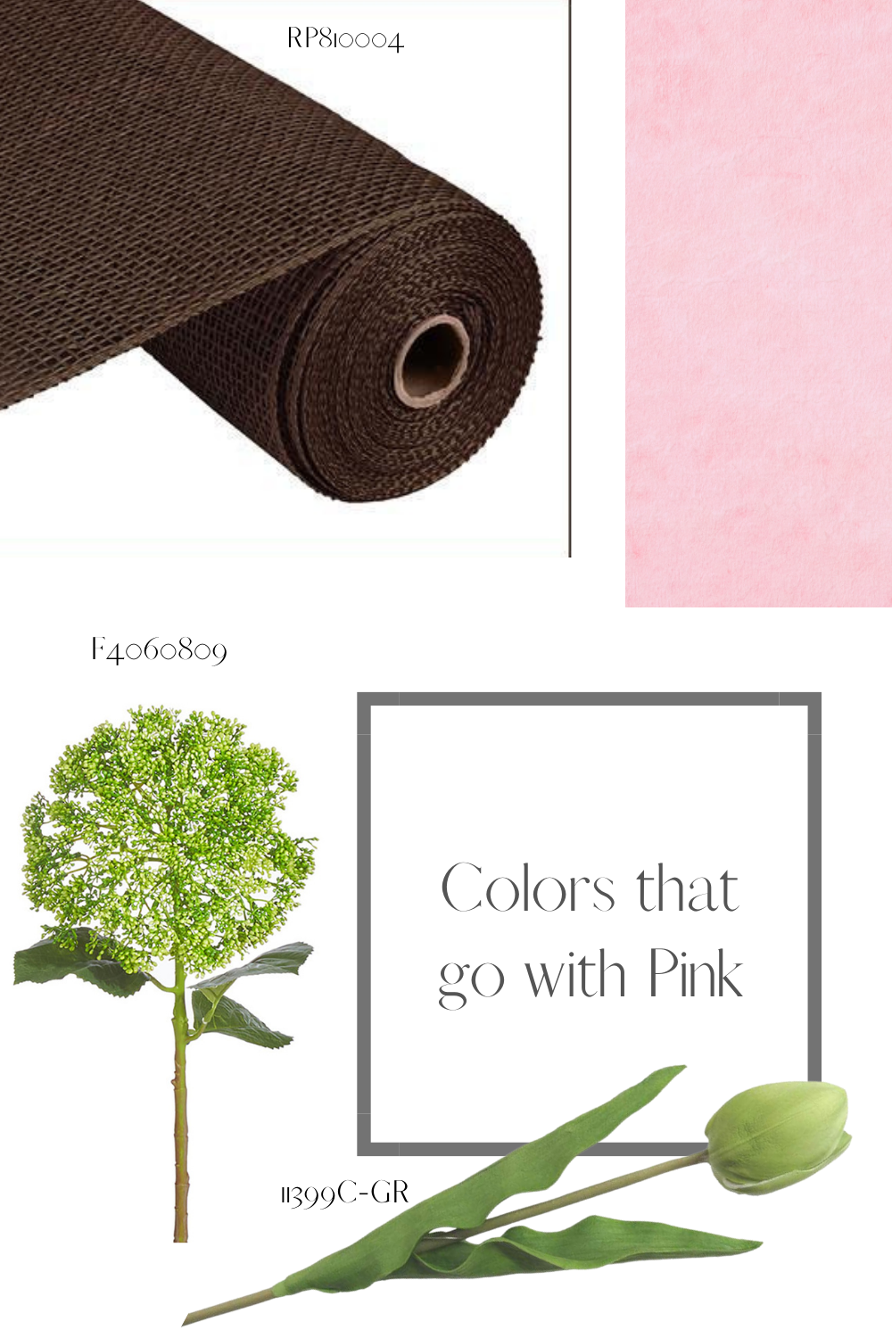 colors that go with pink