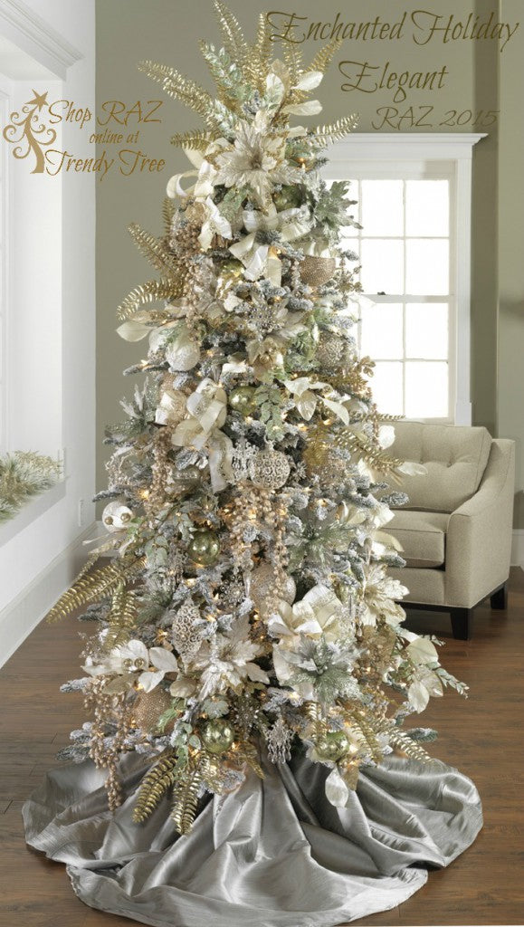 2017 Gold Silver Christmas Tree Inspiration Trendy Tree