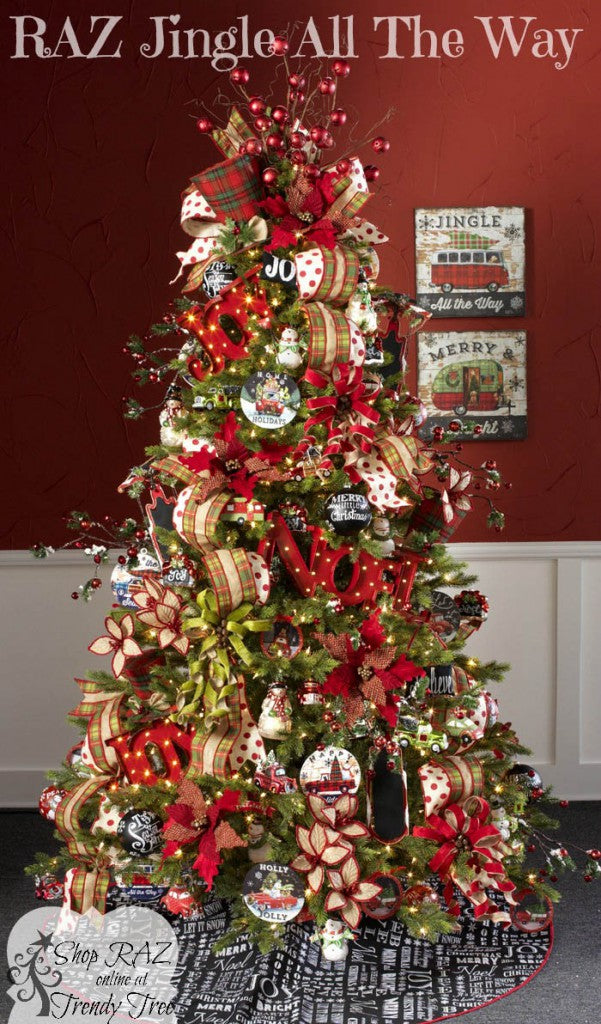 RAZ Jingle All The Way Christmas Tree, visit http://www.trendytree.com for RAZ Christmas decorations