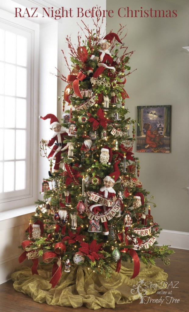 RAZ 2015 Night Before Christmas Tree visit http://www.trendytree.com for RAZ Christmas decorations