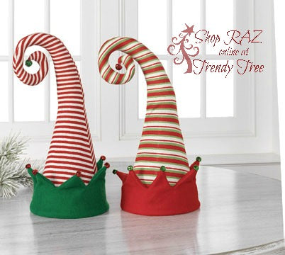 raz-peppermint-toy-elf-hats-trendytree
