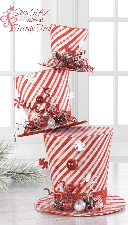 raz-peppermint-toy-swirled-top-hat-stack-trendytree