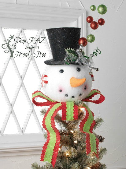 raz-snowman-head-tree-topper-trendytree