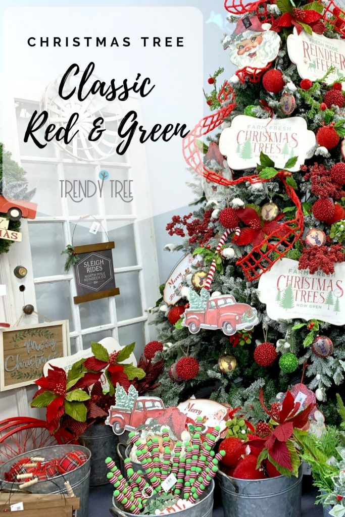 Classic Red Green Christmas Tree Inspiration Trendy Tree