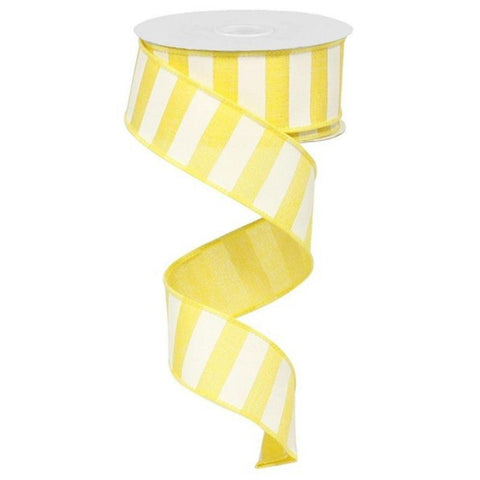 Yellow Wide Stripe Ribbon at Trendy Tree