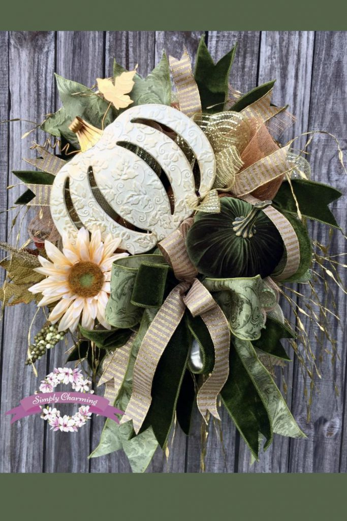 Fall Scarecrow Girl wreath, Fall wreath