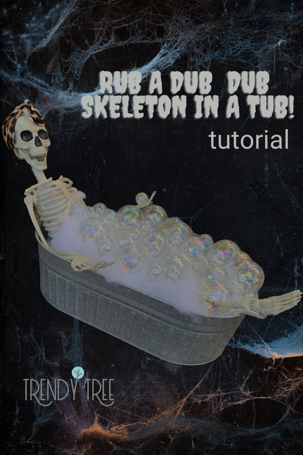 skeleton in a tub tutorial