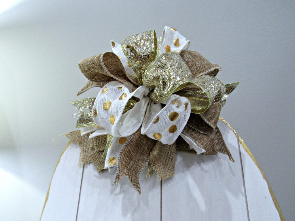 funky bow, hand tied bow, bow with scrap ribbon,