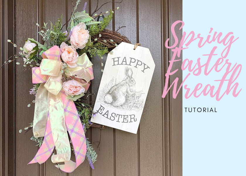spring grapevine easter wreath