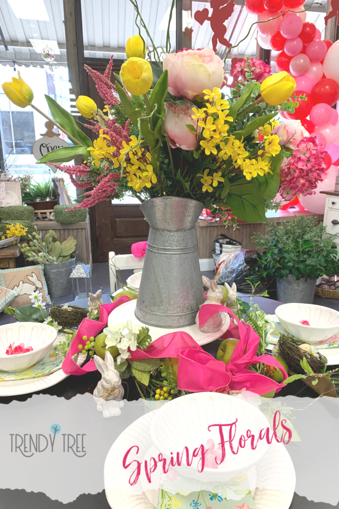 spring tablescape, spring flowers