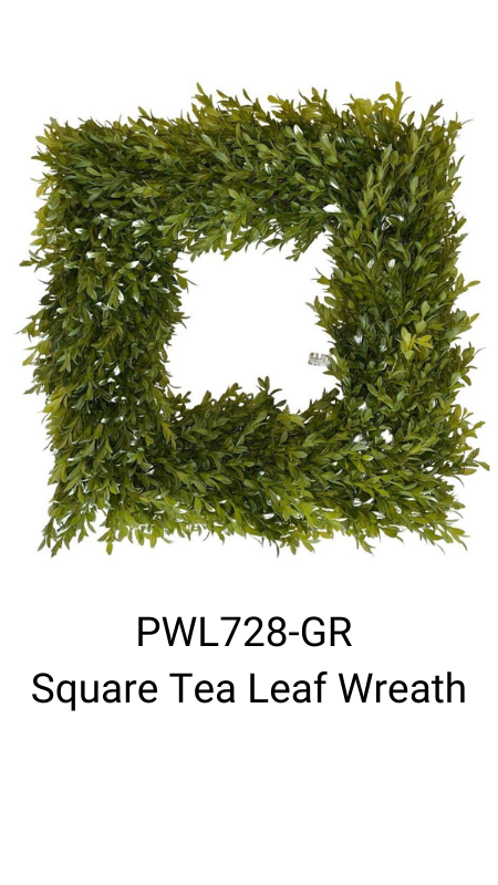 square tea leaf wreath