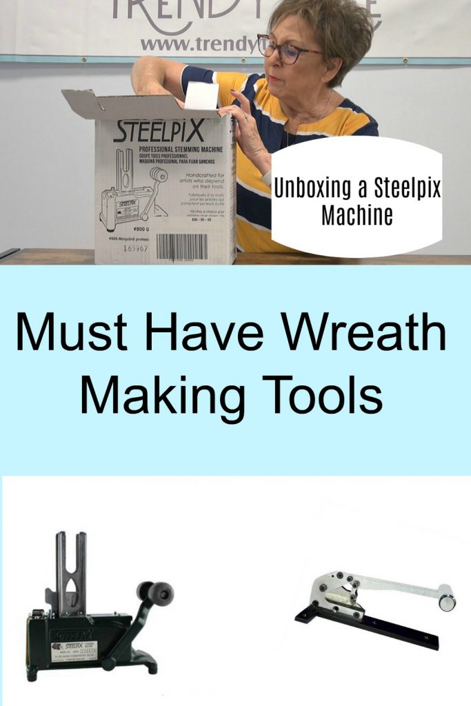 wreath making tools, steelpix machine, steel pick machine, cutter, flower cutter, bush cutter