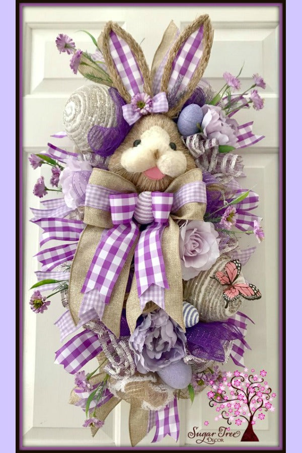 Easter Wreath, Victorian Easter, Easter Wreath, Spring Wreath, Easter Decor, Bunny Wreath, Easter Swag