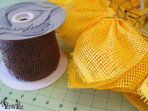 sunflower-brown-paper-ribbon