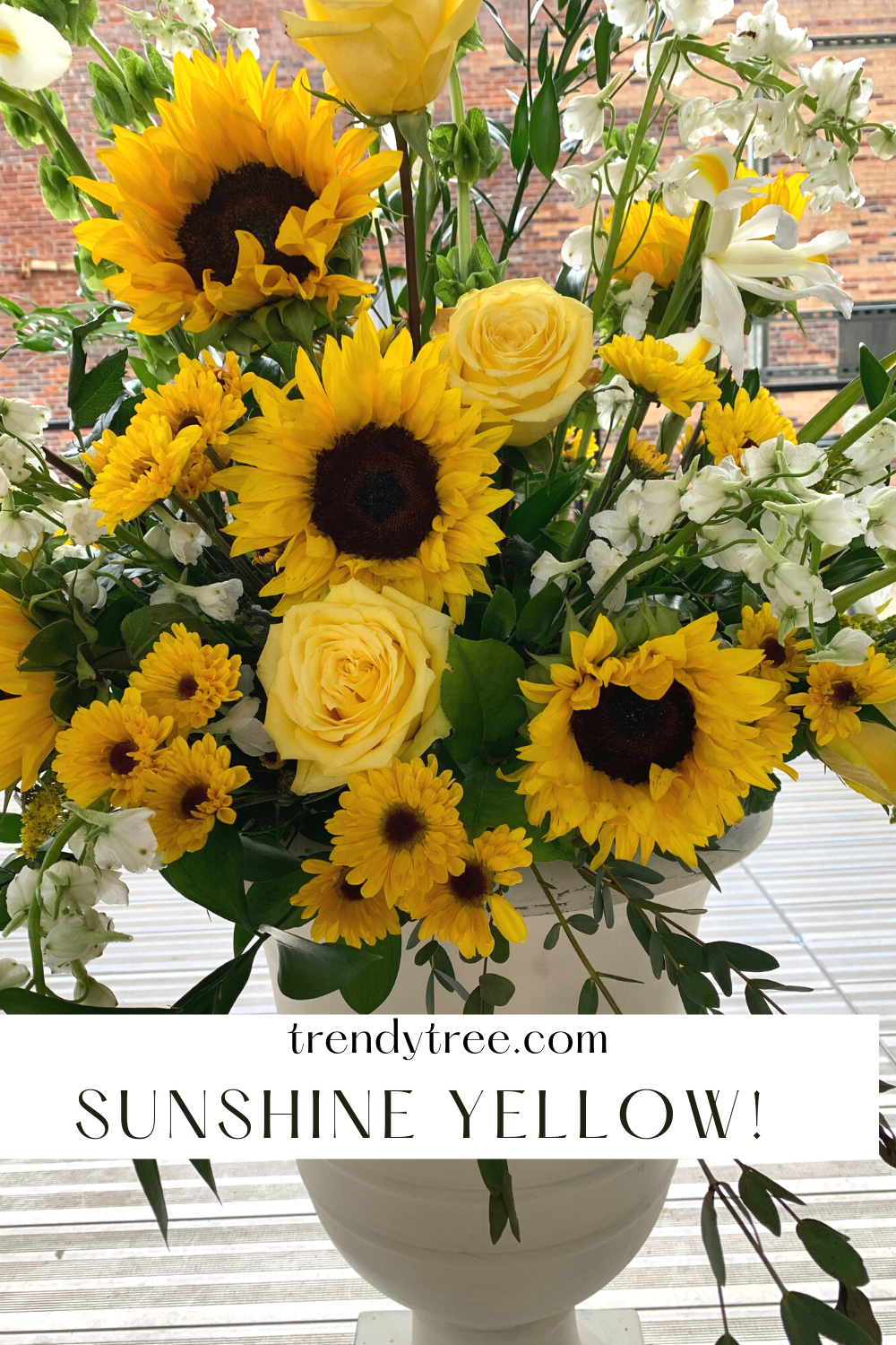 sunflowers and roses together