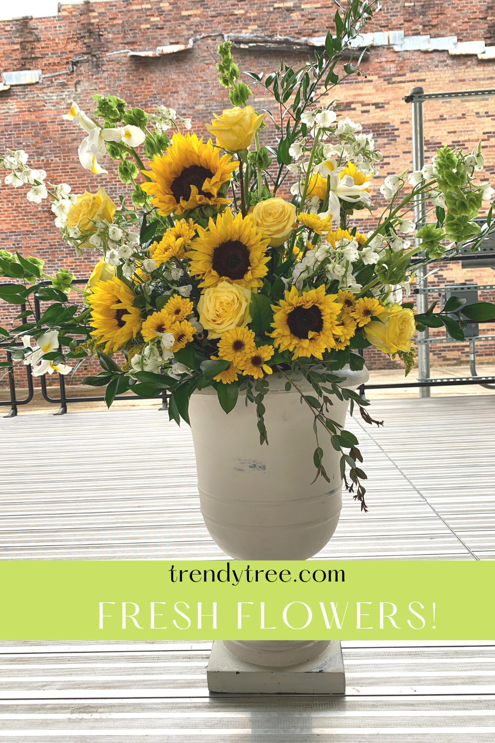 sunflowers and roses arrangement
