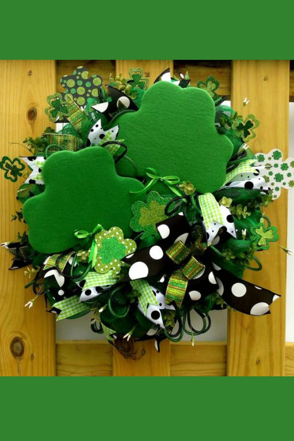 st patrick wreath, paddy wreath, st patricks day, st patricks day wreath, shamrock wreath,