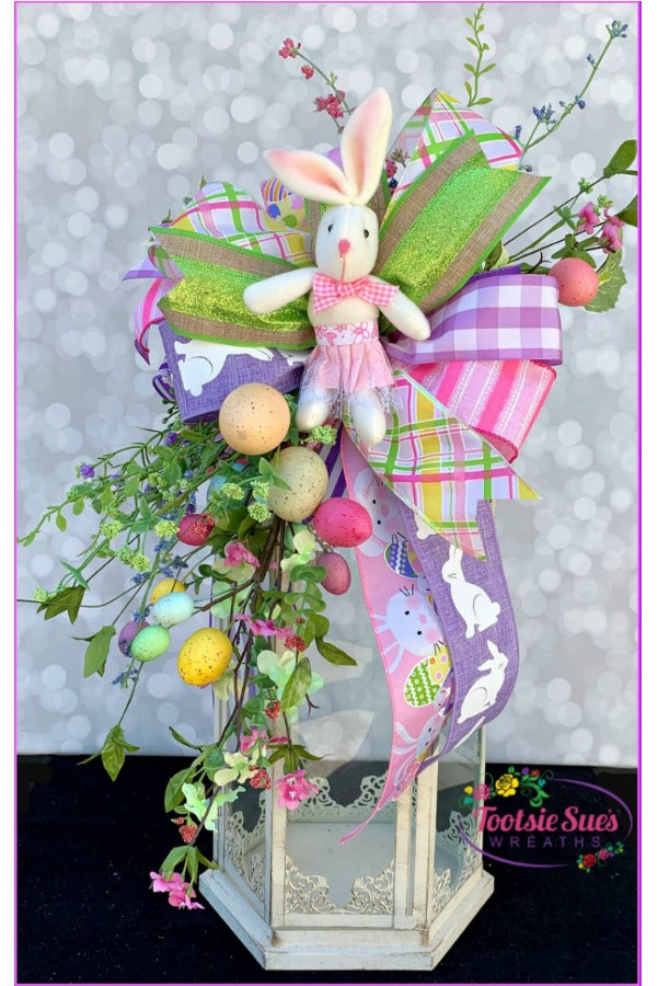 Easter Floral Spray Swag, Easter Lantern Swag, Easter Centerpiece Swag, Easter Decor