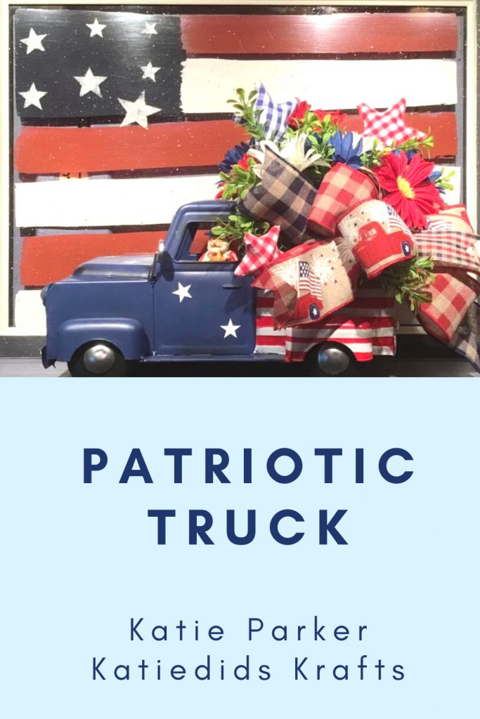 red white blue pickup truck kplanter