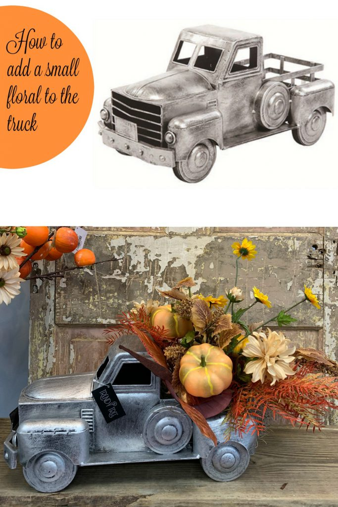 how to add a floral to truck container