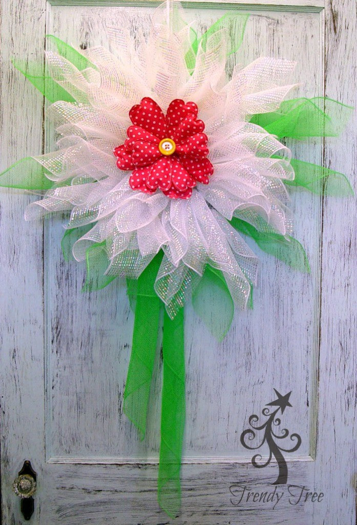 white-flower-wreath