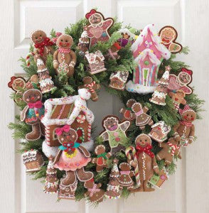 wreath made from ornaments from the gumdrops and jellybeans collection by RAZ