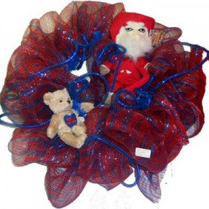 ole miss wreath made from work wreath and deco mesh netting