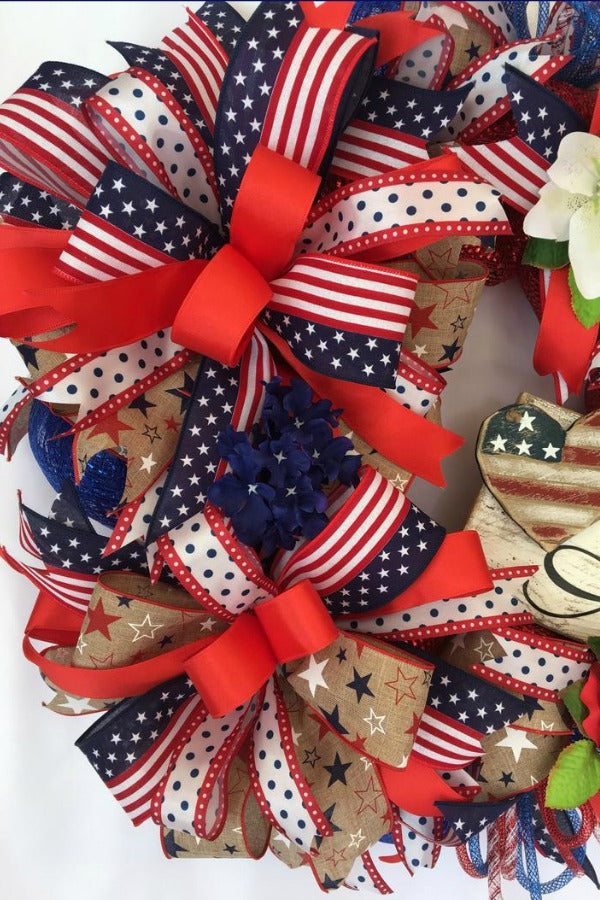 Patriotic Wreath, America Wreath, Red, White and Blue Wreath, Summer Front door wreath, Summer Wreath, Red Truck wreath, USA wreath